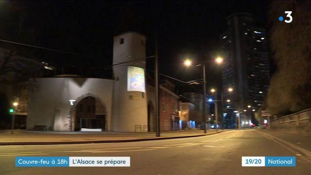 Alsace : couvre-feu avancé à 18 heures