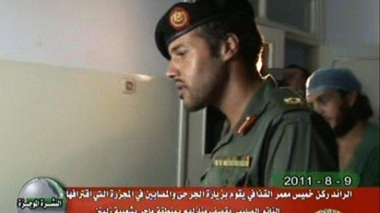 Khamis Kadhafi, pris à la télévison libyenne le 8 août 2011 (AFP/LYBIAN TV)