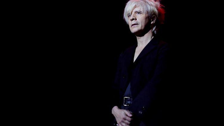 Le chanteur Nicolas Sirkis, leader du groupe Indochine, le 10 décembre 2018. (THOMAS SAMSON / AFP)