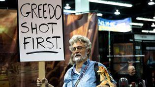 (Le sosie de George Lucas à Anaheim © Matthieu Mondoloni/France Info)