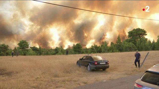 Grèce : la situation inquiète face aux incendies