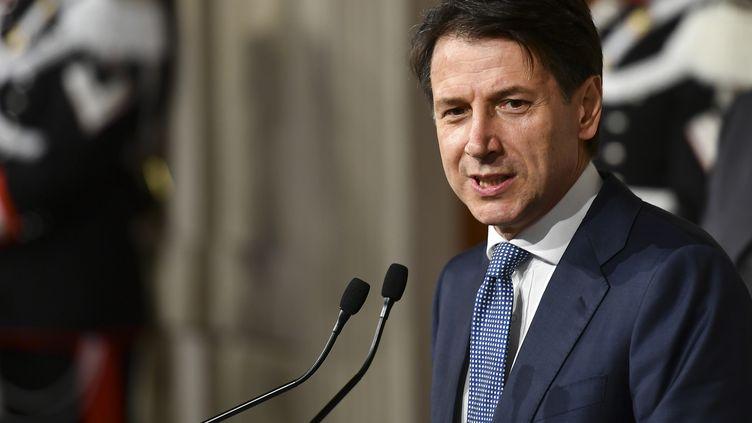 Giuseppe Conte, le président du Conseil italien, à Rome, le 23 mai 2018. (VINCENZO PINTO / AFP)