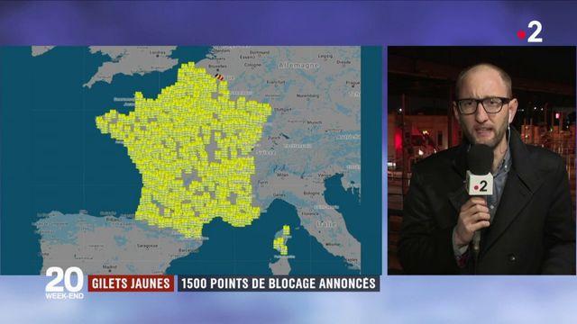 """""""Gilets jaunes"""" : 1 500 points de blocage et une marche vers l'Élysée"""