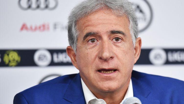Bernard Caïazzo, le président de l'AS Saint-Etienne, en mai 2019. (MANDEL NGAN / AFP)
