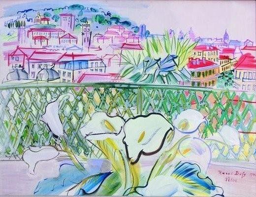 """Raoul Dufy """"La terrasse"""" (Nice 1940)  (Adagp Paris 2017)"""