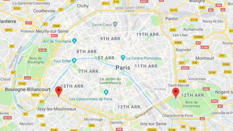 L'aquaboulevard et le zoo de Vincennes ont été braqués dimanche. (GOOGLE MAPS / FRANCETV INFO)