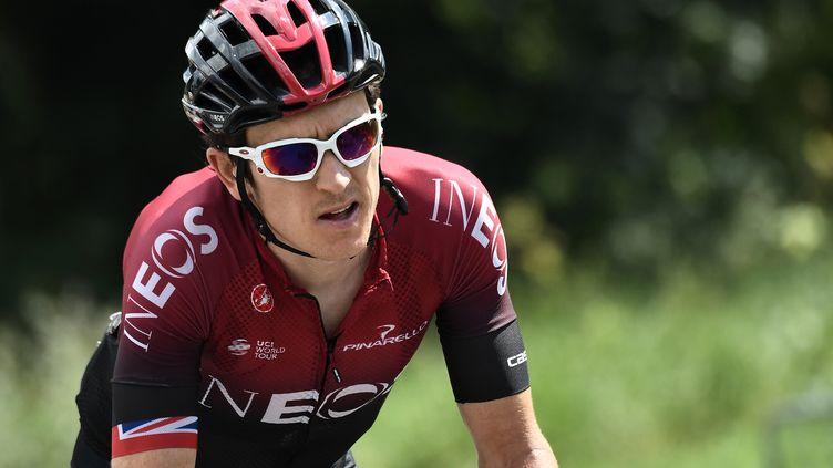 Geraint Thomas a dû se contenter de la 3e place sur l'étape reine de ce Tour de Catalogne (ANNE-CHRISTINE POUJOULAT / AFP)