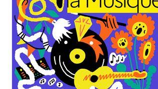 Affiche de la 40e édition de la Fête de la Musique (ATELIER AAAAA - MARIE SOURD)