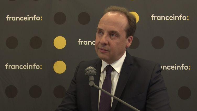 Le candidat UDI aux élections européennes Jean-Christophe Lagarde, lors de la matinée de débats organisée par franceinfo à la Maison de la Radio, jeudi 23 mai. (FRANCEINFO / RADIO FRANCE)
