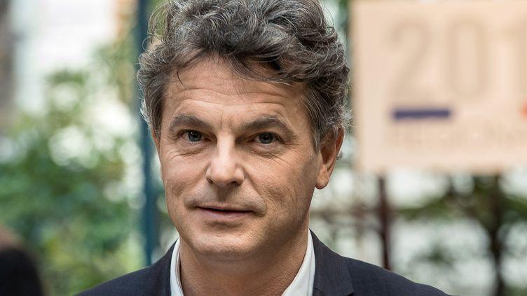 Fabien Roussel, alors candidat du PCF pour les élections régionales du Nord-Pas-de-Calais, le 2 décembre 2015. (PHILIPPE HUGUEN / AFP)