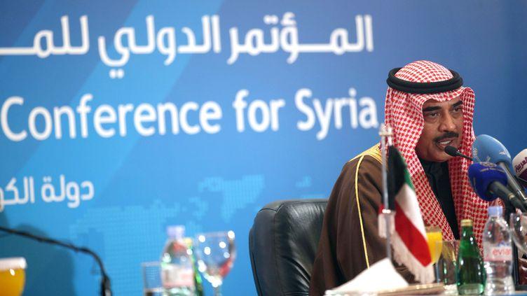 Le ministre des Affaires étrangères koweïtien, Cheikh Sabah Khaled Al-Sabah,le 29 janvier 2013 au Koweït. (YASSER AL-ZAYYAT / AFP)