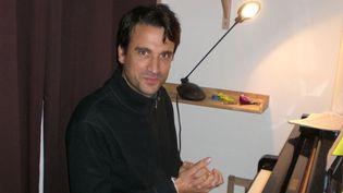 Baptiste Trotignon au piano, chez lui en banlieue parisienne (20/9/2012)  (Annie Yanbékian)