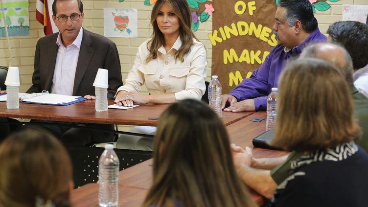 La Première dame américaine Melania Trump assiste à une réunion du service social à McAlen au Texas (Etats-Unis), le 21 juin 2018. (CHIP SOMODEVILLA / GETTY IMAGES NORTH AMERICA)