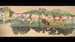 Scène nilotique, 1er siècle après J.-C., enduit peint à la fresque, Fouilles de Pompéi, réserves archéologiques  (Soprintendenza Speciale per i Beni archeologici di Napoli e Pompei / Fotografica Foglia)