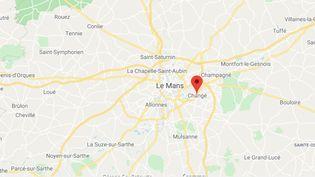 Changé (Sarthe). (GOOGLE MAPS / FRANCEINFO)