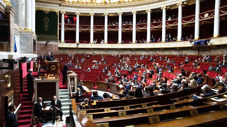 Les députés dans l'hémicycle de l'Assemblée nationale, lundi 7 octobre 2019. (MAXPPP)