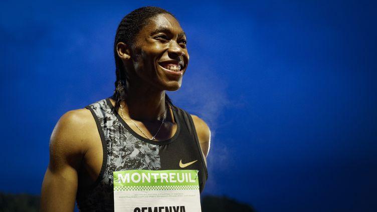 L'athlète sud-africaine Caster Semenya, au meeting de Montreuil, le 11 juin 2019. (GEOFFROY VAN DER HASSELT / AFP)