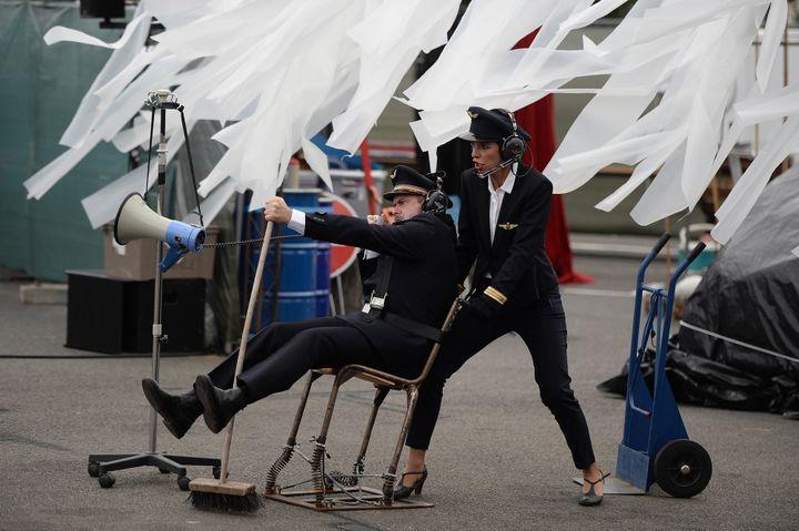 Spectacle Royal de Luxe à Nantes, juillet 2017.  (JEAN-SEBASTIEN EVRARD / AFP)
