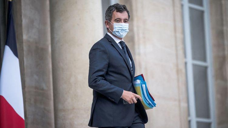 Gérald Darmanin à Paris, le 7 octobre 2021. (ARTHUR NICHOLAS ORCHARD / HANS LUCAS / AFP)