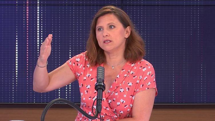 Roxana Maracineanu,ministre déléguée chargée des Sports, vendredi 23 juillet 2021 sur franceinfo (Radio France)