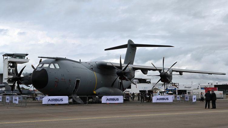 Un Airbus A400M, le 11 février 2020 à Singapour. (ROSLAN RAHMAN / AFP)