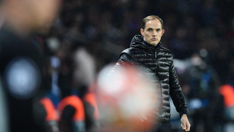 Thomas Tuchel connaît l'une de ses plus grandes déconvenues avec le PSG contre Manchester United, en mars 2019.  (MUSTAFA YALCIN / ANADOLU AGENCY)