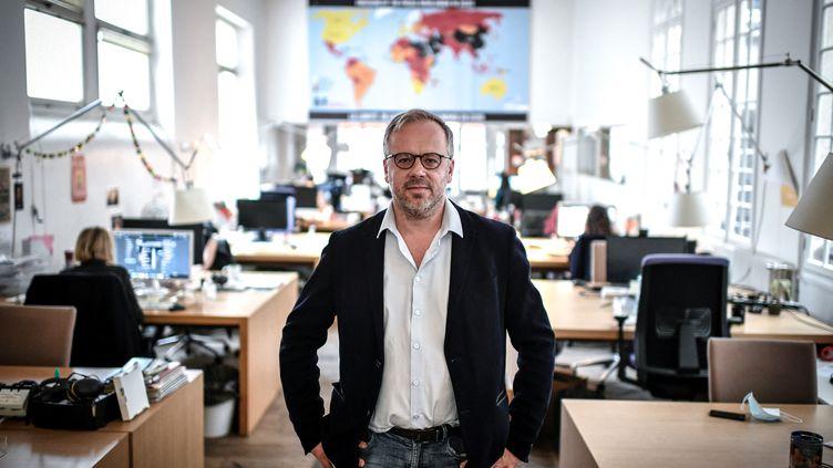 Christophe Deloire, secrétaire général de Reporters sans frontières, le 9 octobre 2020. (STEPHANE DE SAKUTIN / AFP)