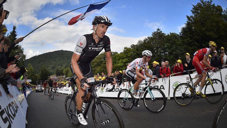 Fabian Cancellara, à l'arrivée de la dixième étape sur la Planche des Belles-Filles. (DAVID STOCKMAN / BELGA MAG)