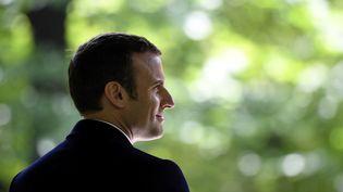 Le président élu Emmanuel Macron, le 10 mai 2017 à Paris. (ERIC FEFERBERG / AFP)