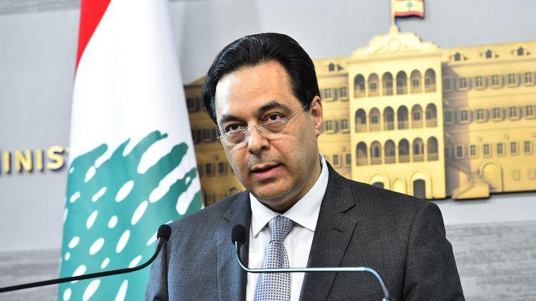 Le Premier ministre libanais Hassan Diab à Beyrouth, le 13 juin 2020. (AFP)
