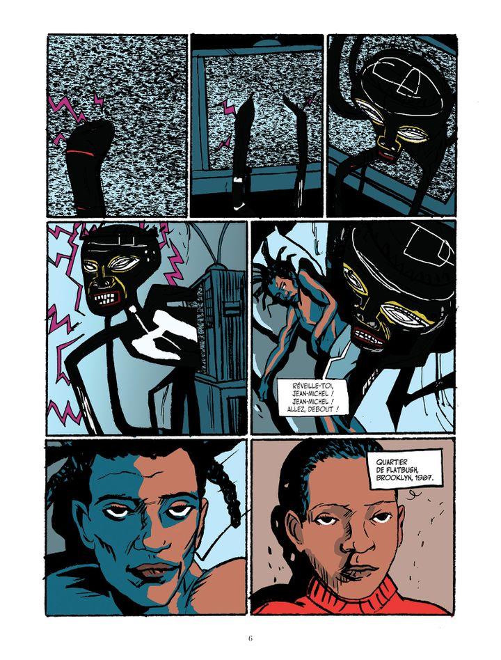 """Une des planches de """"Basquiat"""", la biographie dessinée de Julian Voloj et Soren Mosdal sur le peintre new-yorkais. (JULIAN VOLOJ - SOREN MOSDAL (COURTESY EDITIONS SOLEIL))"""