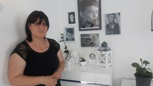 Sandra Chinaud, mère d'un collégien tué dans le car de Millas (Pyrénées-Orientales), le 14 décembre 2017. (SEBASTIEN BAER / RADIO FRANCE)