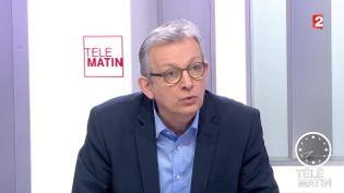Le secrétaire national du Parti communiste, Pierre Laurent, le 29 janvier 2016. (FRANCE 2)