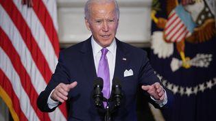 Le président américain, Joe Biden, à la Maison Blanche, le 26 janvier 2021. (MANDEL NGAN / AFP)