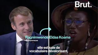 VIDEO. Le coup de gueule d'une entrepreneuse burkinabè face à Emmanuel Macron (BRUT)