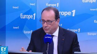 Le président de la République, François Hollande, le 17 mai 2016 sur Europe 1. (EUROPE 1)