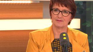 Christiane Lambert est la présidente de la FNSEA, premier syndicat agricole français.  (RADIO FRANCE)