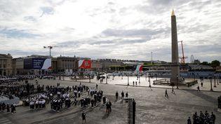 La cérémonie du 14-Juillet place de la Concorde à Paris, le 14 juillet 2020. (THOMAS SAMSON / AFP)