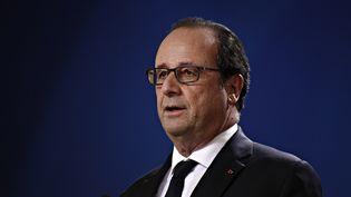 François Hollande lors d'un sommet européen à Bruxelles (Belgique), le 20 octobre 2016. (ALEXANDROS MICHAILIDIS / SOOC / AFP)