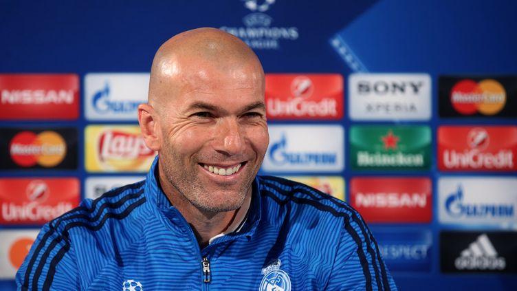 L'entraîneur du Real Madrid, Zinédine Zidane (RONNY HARTMANN / AFP)
