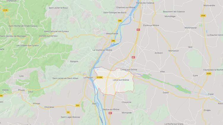 L'accident s'est produit à hauteur de la commune de Loriol, dans la Drôme (Capture d'écran Google Maps)