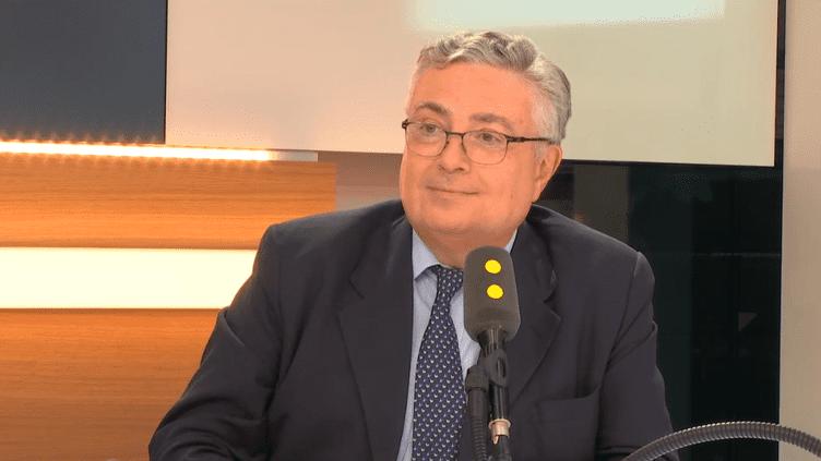 Jacques Creyssel, président de la Fédération du commerce et de la distribution, le 29 septembre 2017. (RADIO FRANCE / FRANCEINFO)
