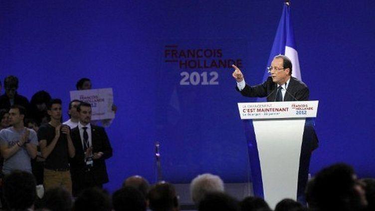 François Hollande au Bourget (22 janvier 2012) (AFP)
