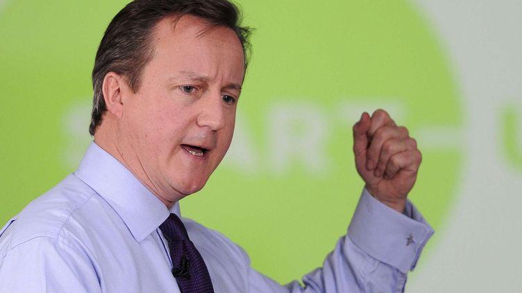 Le Premier ministre britannique, David Cameron, le 3 janvier 2013 à Preston (Royaume-Uni). (MARTIN RICKET / SIPA)