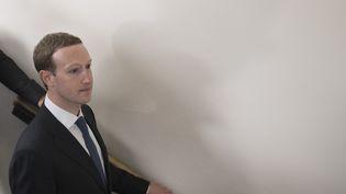 Mark Zuckerberg, au Capitole, à Washington DC, le 9 avril 2018. (JIM WATSON / AFP)