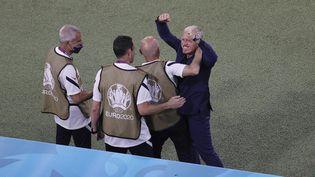 Didier Deschamps était soulagé après la victoire de ses joueurs face à l'Allemagne pour leur entrée en lice à l'Euro 2021. (JVORGEN FROMME / AUGENKLICK/FIRO SPORTPHOTO)