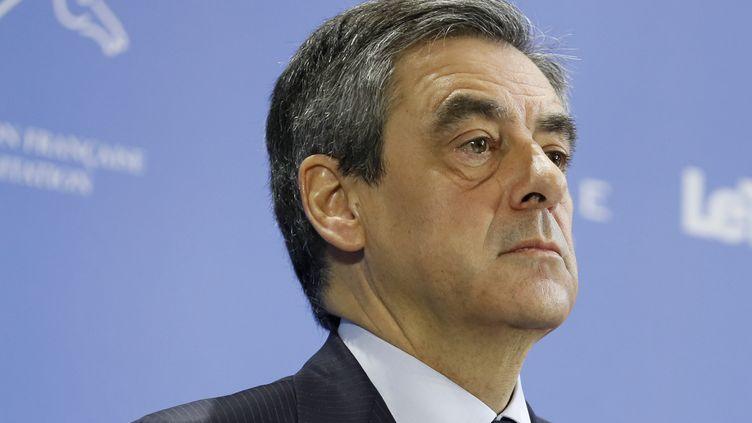 François Fillon, le 5 avril 2017. (THOMAS SAMSON / AFP)