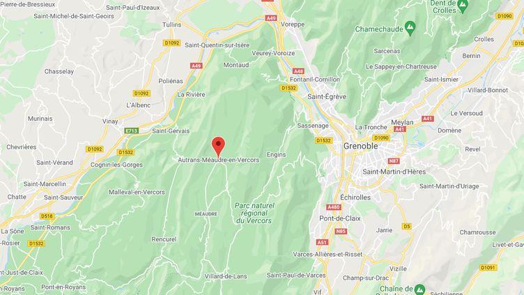 Autrans (Isère). (CAPTURE D'ECRAN GOOGLE MAPS)