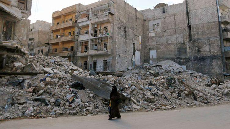 (Dans les rues d'Alep, la deuxième ville de Syrie, en septembre 2014. © REUTERS | Hosam Katan)
