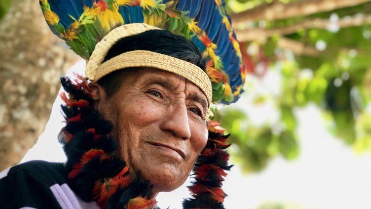Valdemar est membrede la tribu des Karitiana, qui vit dans la forêt amazonienne, à 90 km de Porto Vehlo au Brésil. (MATTHIEU MONDOLONI / FRANCE-INFO)